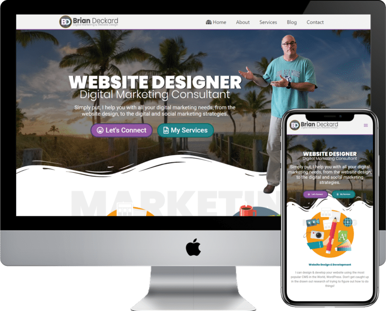 WordPress designer and developer in the Bradenton, Sarasota, Florida area, Brian Deckard