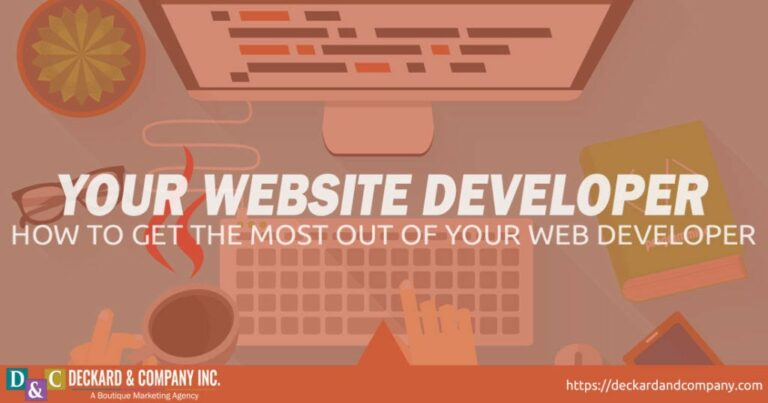 How to get the most our of your website designer and developer