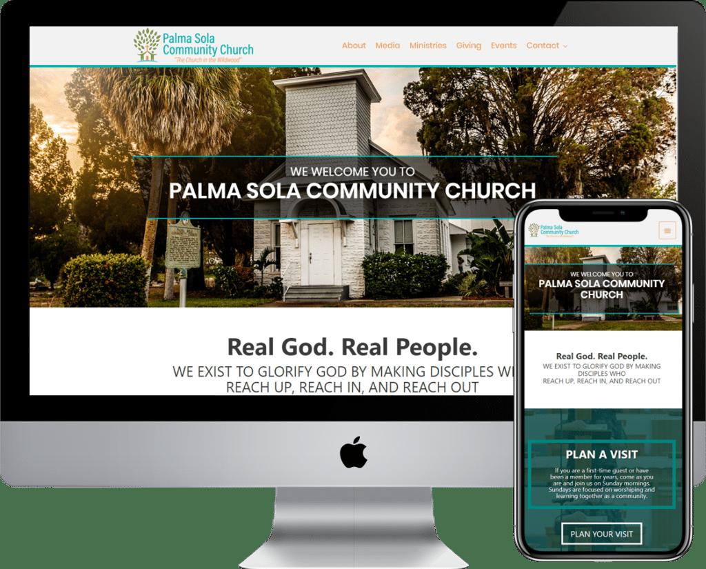 Church or Non-Profite WordPress website design and web development in the Bradenton, Florida area