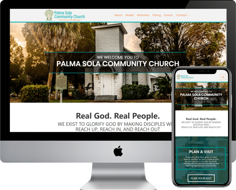 Church or Non-Profite WordPress website design and web development in the Bradenton, Florida area