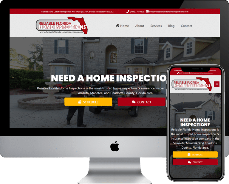 Home inspection company website design and development using WordPress