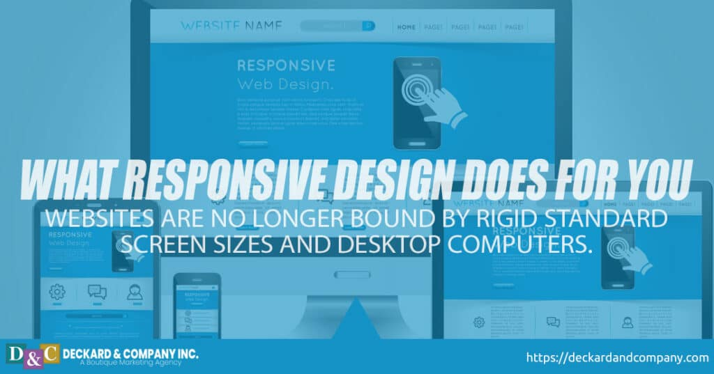 What responsive website design does for you