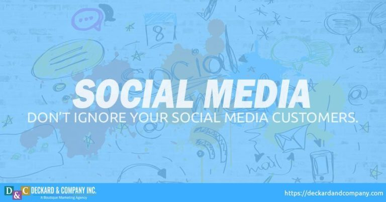 Do not ignore your social media customers