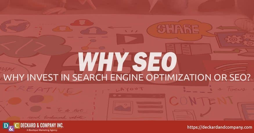 Why do I need to invest in search engine optimization or SEO
