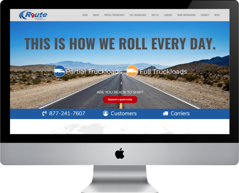 WordPress web design for your logistics company website