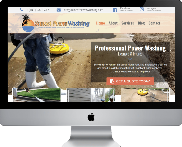 Need a website designed for your power washing business