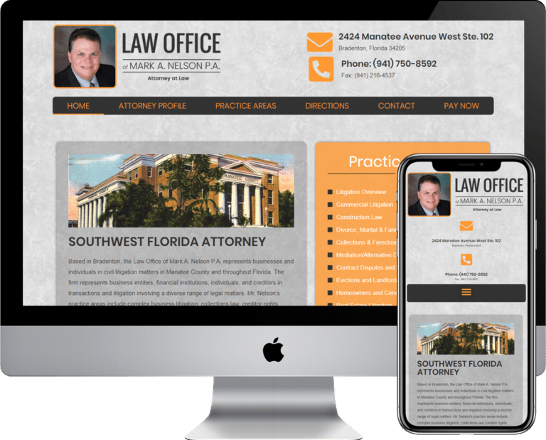 Attorney and Lawyer WordPress website design and development services