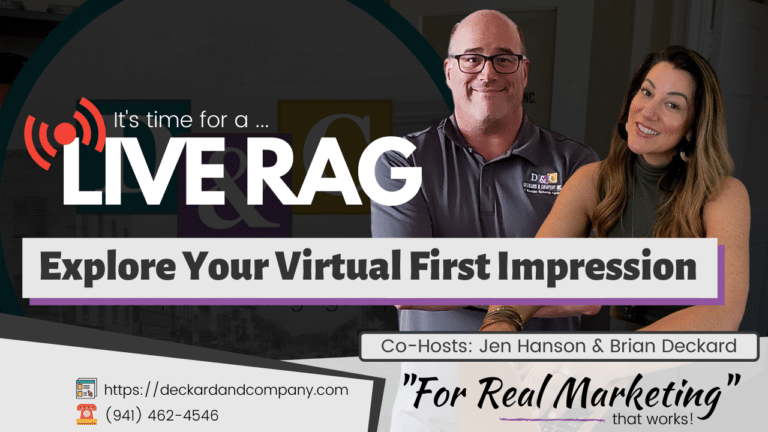 Explore your virtual first impression, that online marketing with Deckard & Company, a Boutique Marketing Agency in Bradenton, Florida