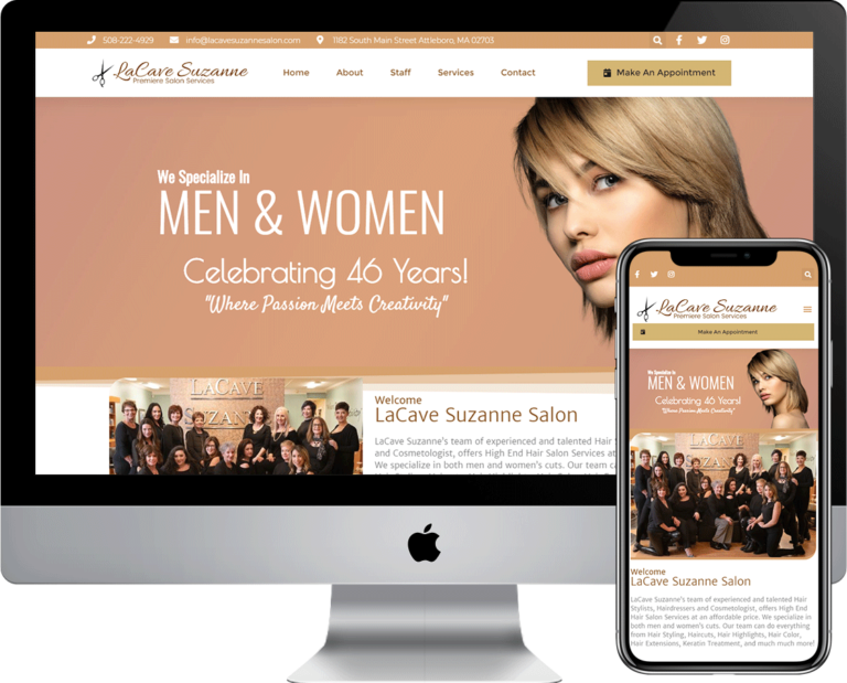 WordPress website built for LaCave Suzanne of Attleboro, Massachusetts