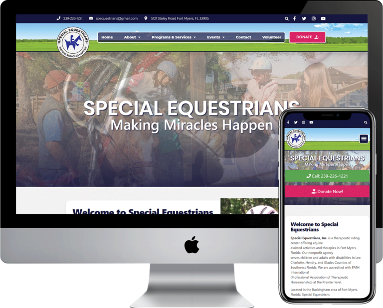 WordPress website design and development for Special Equestrians