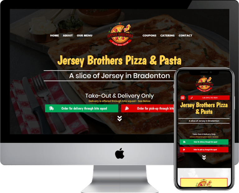 Pizza or Pizzeria Restaurant WordPress website design company located in Bradenton, Florida