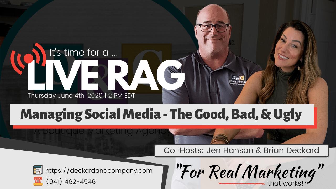 Managing Social Media - Thursday June-4-2020