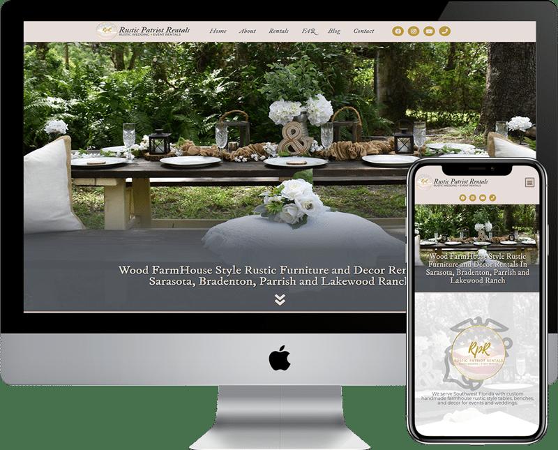 Rustic Patriot Rentals is a WordPress website design company in Bradenton, Sarasota, Florida