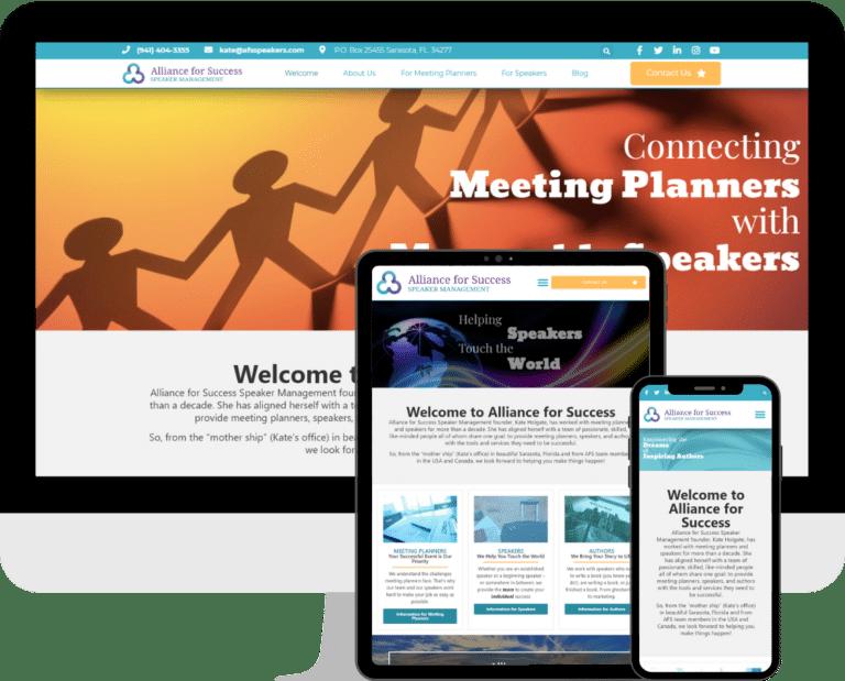Professional Speaker Manager WordPress website design and development services