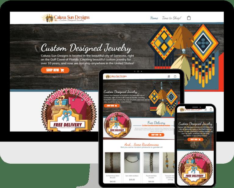 WordPress e-commerce website design services based in Bradenton, Sarasota, Florida.