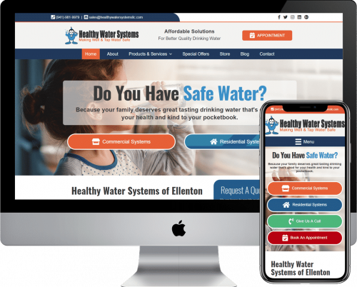 Water Treatment and systems WordPress web design and development