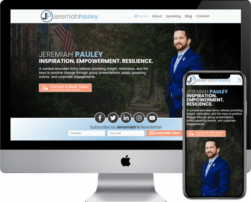 Professional Speaker website design and development agency
