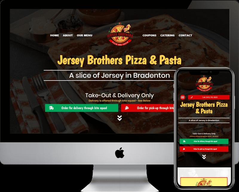 Pizza or Pizzeria Restaurant WordPress website design company located in Bradenton, Florida