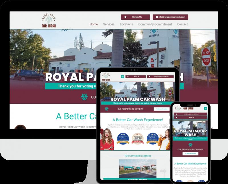 Local car wash WordPress website design and development services