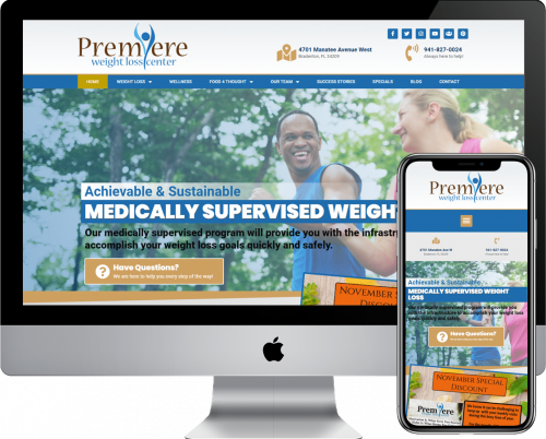 Premiere Weight Loss of Bradenton WordPress Web Design & Development Services